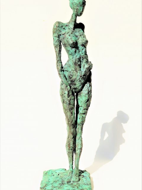 LINÉ Peace of Mind 38 cm H x 480x640 - Bronze Sculptures of Liné Ringtved Thordarson