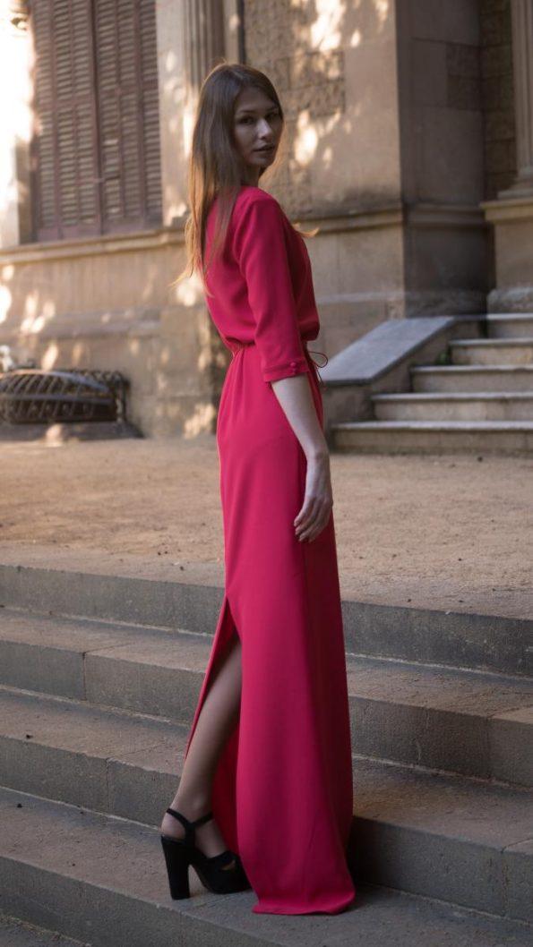 s vestido crepe rojo 1 595x1058 - Laura Sors Collection