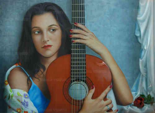 ARTE FIGURATIVO PACO YUSTE Amor de guitarraGL PY6143F m 1 - Paco Yuste Plastic Artist