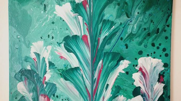 ABSTRACT CALIA LILY 1 690x384 - Jennita Narrain, the Mauritian painter