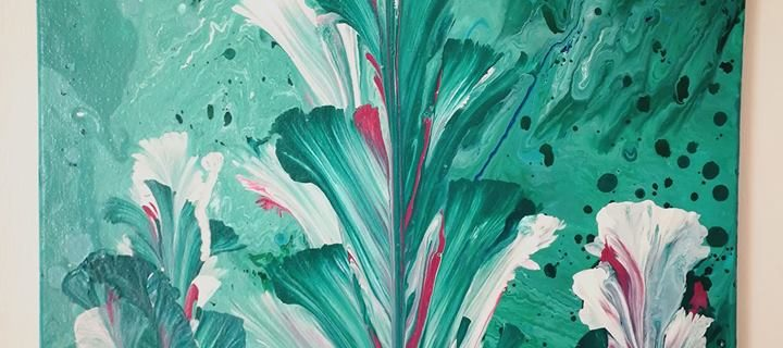 ABSTRACT CALIA LILY 1 720x320 - Jennita Narrain, the Mauritian painter