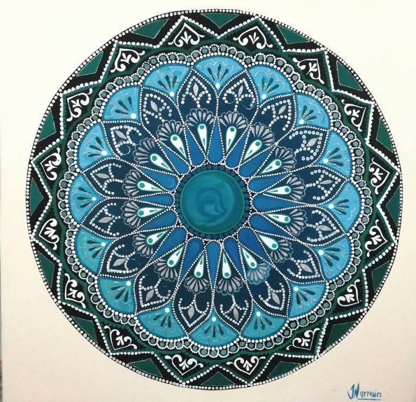 MANDALA 595x574 - Jennita Narrain, the Mauritian painter