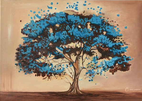 TURQUOISE DE NATURE 1 595x423 - Jennita Narrain, the Mauritian painter