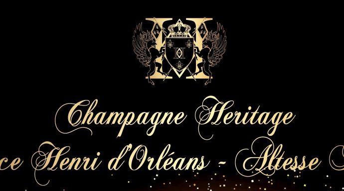 Champagne HERITAGE Prince Henri dOrléans Happy New Year 2019 MD copia 2 690x384 - Nina Vélez-Troya Ambassador of Champagne Heritage Prince Henri D'Orléans