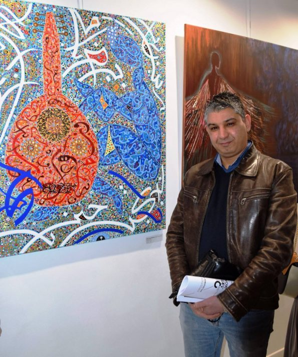 50947205 392886464806212 1294035086068416512 n 595x714 - Raouf Meftah, the great painter of the magical transcendental calligraphy
