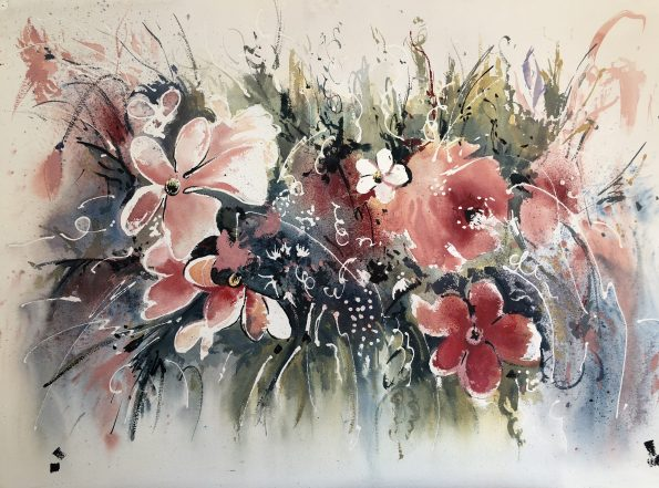 IMG 1357 595x441 - Emilia Lloret, the Master of the watercolor paintings