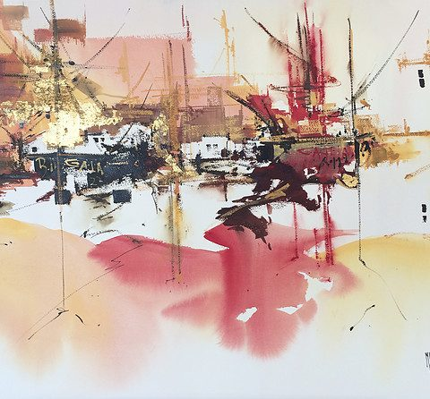 Light in the port 480x446 - Emilia Lloret, the Master of the watercolor paintings