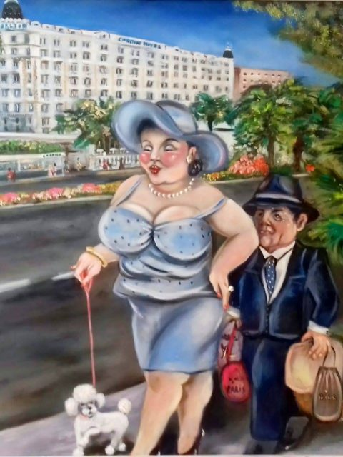 Cannes croisette 480x640 - Petra Moons, the artists with humorous and social expression