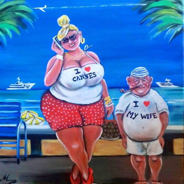 I love Cannes 595x595 - Petra Moons, the artists with humorous and social expression