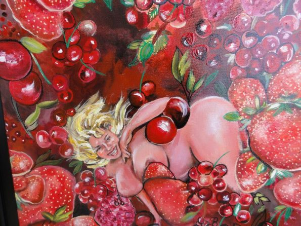 fruit rouge de passion 595x446 - Petra Moons, the artists with humorous and social expression