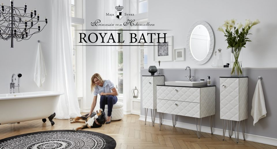 Royal Bath Collection Diamond Line white Princess Maja von Hohenzollern 960x516 - H.H. Princess Maja von Hohenzollern, a creative interior designer