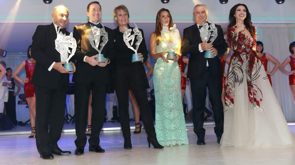 WSLA Ceremony Osvaldo Ardiles Freddie Spencer Jutta Kleinschmidt Bianca Senna Dr Claudio Costa Lorena Baricalla 595x333 - Monaco World Sports Legends Award 2019 next 6th and 7th December