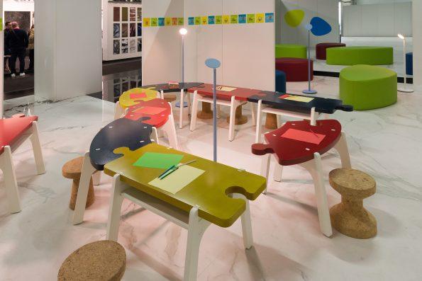 Jigsaw table 4 595x397 - Yasmine Mahmoudieh British architect and interior designer