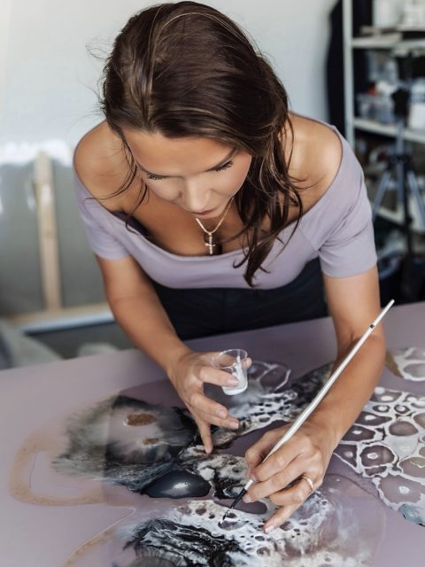 Galina Shamaeva studio work  480x640 - Galina Shamaeva, Contemporary Abstract Artist