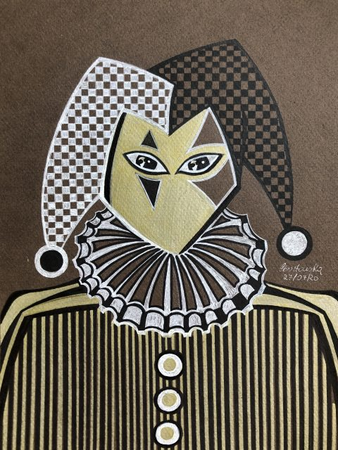 Jester 29 x 215 cm Pen 2020 480x640 - Marta Chrostowska, the fresh art of a self-taught artist