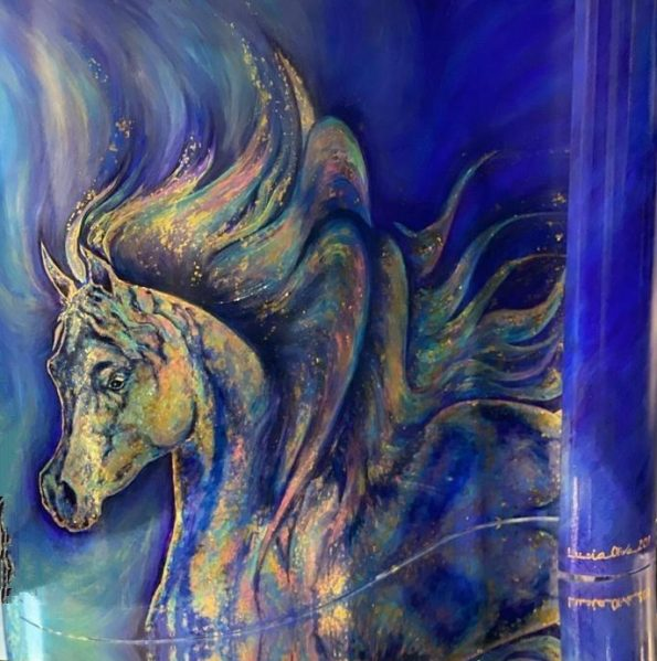 Lucia Oliva NOBLESSE 595x599 - Lucia Oliva, eclectic and self-taught Italian artist