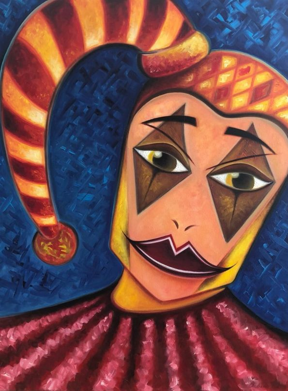 My Painting Jester 80 x 60 x 2 cm Oil on Canvas 2016 595x807 - Marta Chrostowska, the fresh art of a self-taught artist