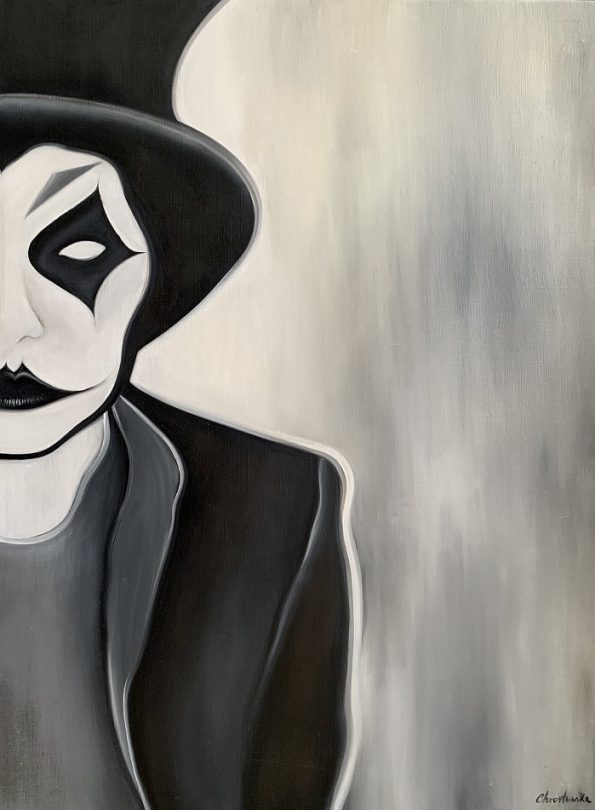 My Painting Joker 73 x54 x 3 cm Oil on Canvas 2015 595x810 - Marta Chrostowska, the fresh art of a self-taught artist