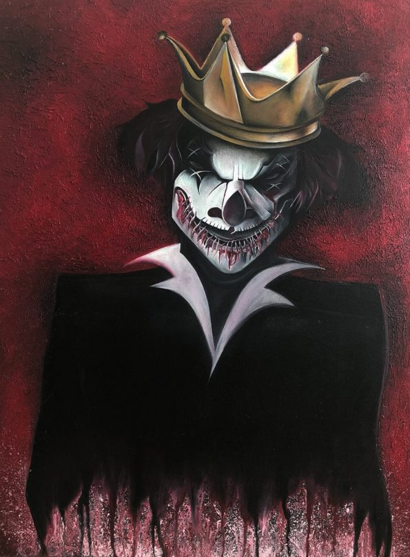 My Painting King Clown 73 x 54 x 2 cm Oil on Canvas 595x807 - Marta Chrostowska, the fresh art of a self-taught artist