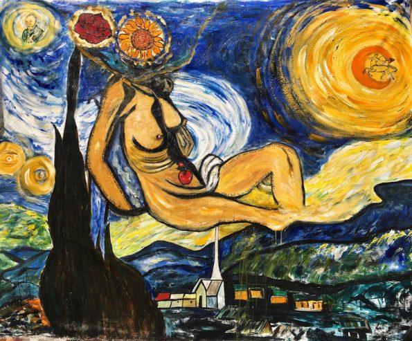 DaliGogh 595x493 - Suzi Fadel Nassif Contemporary  Lebanese Artist