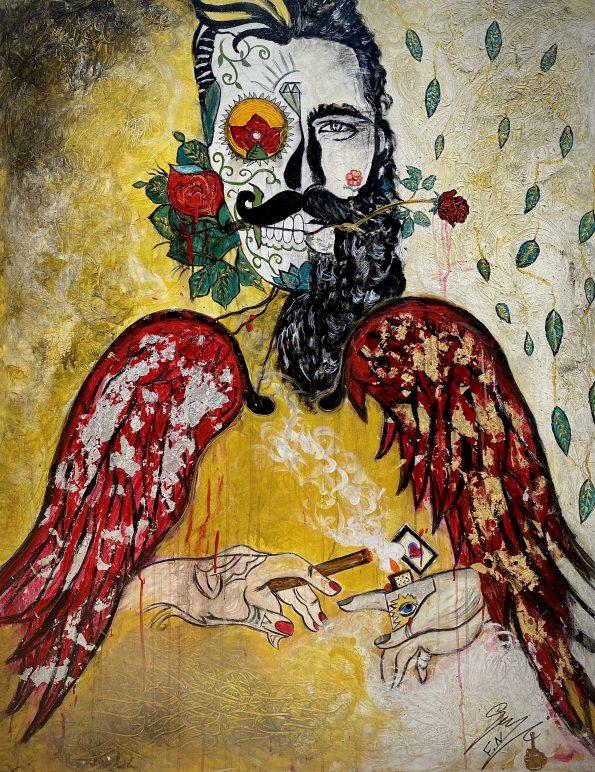 Fallen High 595x772 - Suzi Fadel Nassif Contemporary  Lebanese Artist