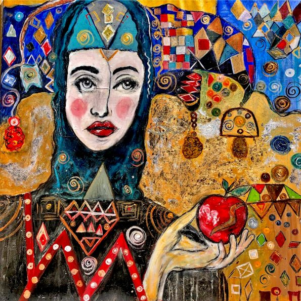 Lina in wonderland 595x594 - Suzi Fadel Nassif Contemporary  Lebanese Artist