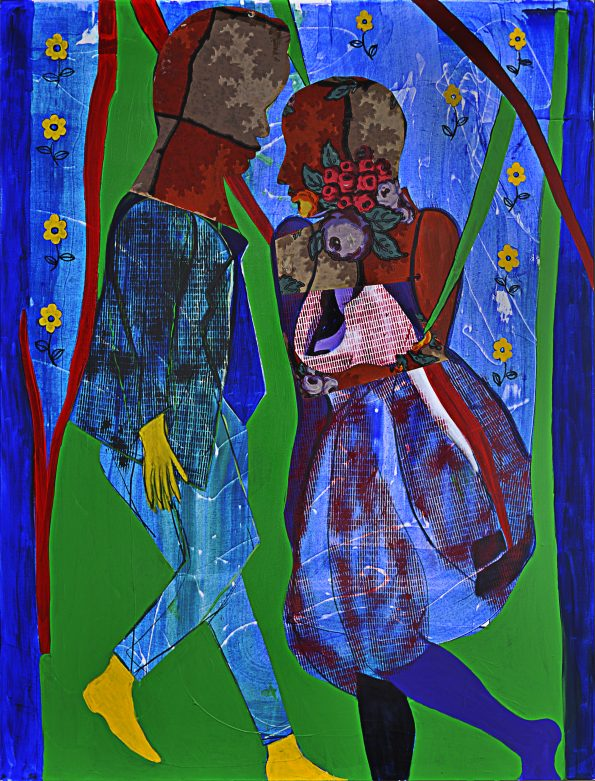 Nabeela Al Khayer140x120cm Mixed Media on canvas2012 595x781 - Nabeela Al Khayer the artist that creates stories of magical colors