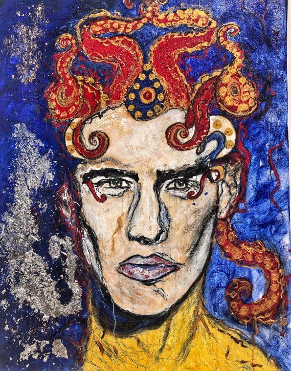 Neptune 595x759 - Suzi Fadel Nassif Contemporary  Lebanese Artist