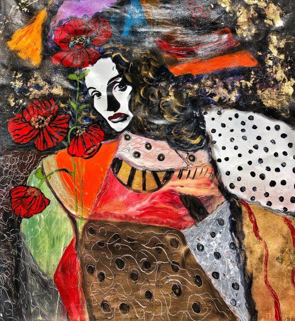 madame marlene 595x648 - Suzi Fadel Nassif Contemporary  Lebanese Artist