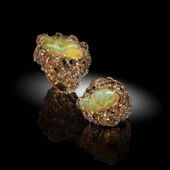 arlecchino 595x595 - Davide Maule: Artist and Master Goldsmith of exclusive jewels