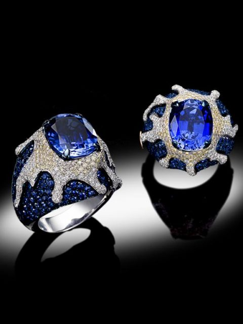 royal blue 480x640 - Davide Maule: Artist and Master Goldsmith of exclusive jewels