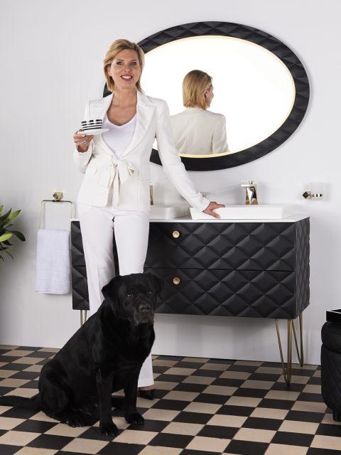 "Princess Maja von Hohenzollern Bathroom dog m Logo 480x640 - Princess Maja von Hohenzollern presents her 1st vegan and luxurious ""Royal Bath"" Collection"