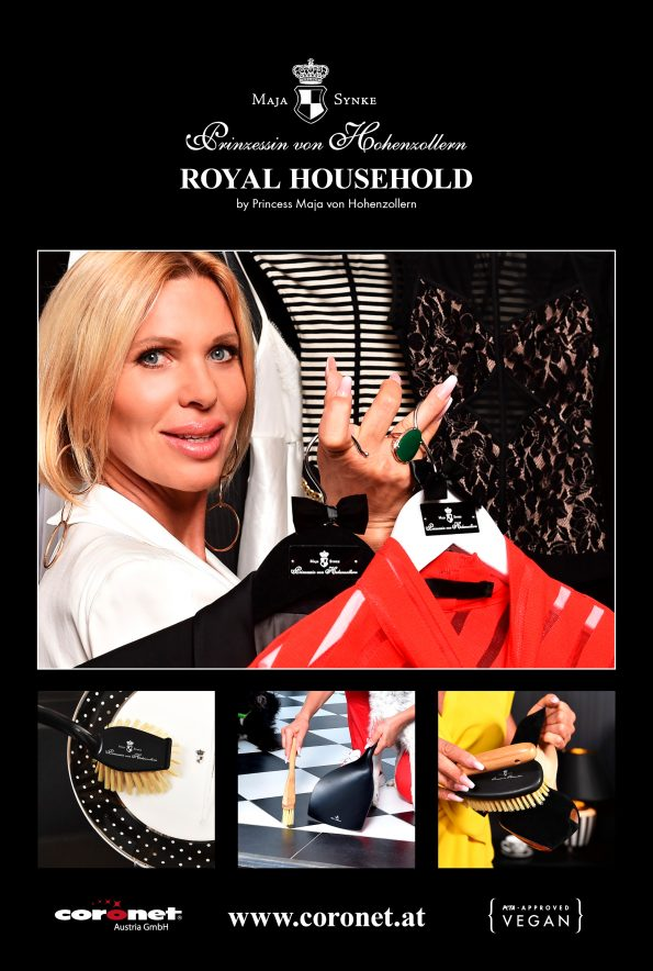 "Princess Maja von Hohenzollern Royal Household Ad. 595x884 - Princess Maja von Hohenzollern presents her 1st vegan and luxurious ""Royal Bath"" Collection"