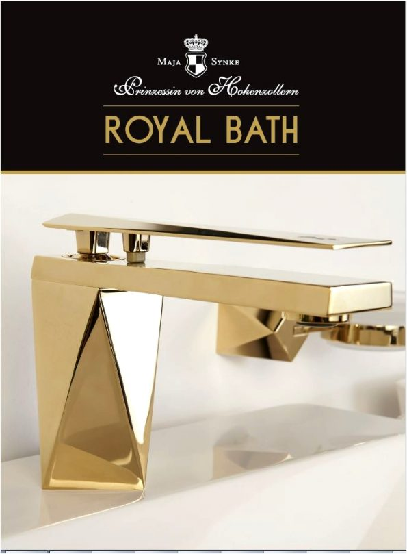 "Royal Bath Maja Prinzessin von Hohenzollern Bad Armatur 595x809 - Princess Maja von Hohenzollern presents her 1st vegan and luxurious ""Royal Bath"" Collection"