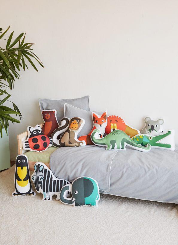 Bibu animals cushions 595x819 - Bibu, the creative and sustainable luxury of interior design for children