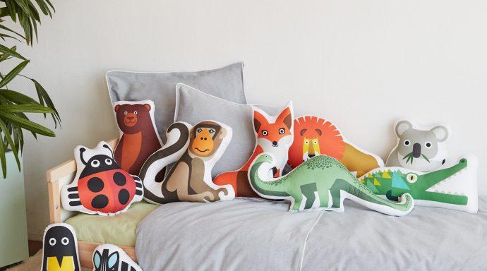 Bibu animals cushions 690x384 - Bibu, the creative and sustainable luxury of interior design for children