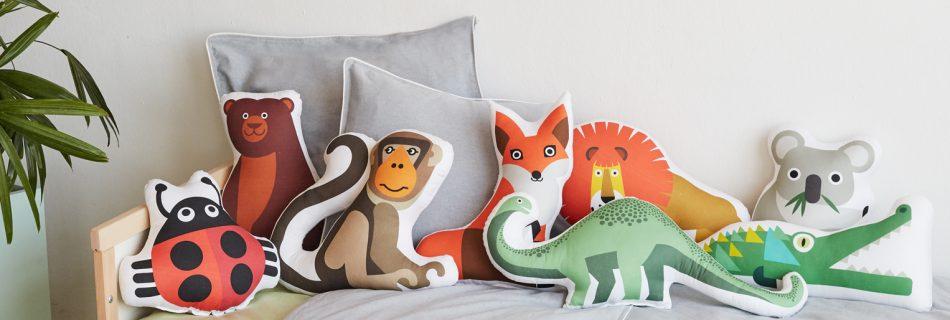 Bibu animals cushions 950x320 - Bibu, the creative and sustainable luxury of interior design for children