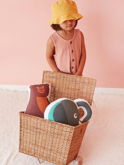 Bibu bear cushion amb2 480x640 - Bibu, the creative and sustainable luxury of interior design for children